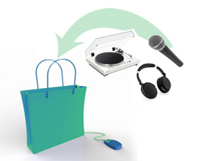 E-commerce audio e video